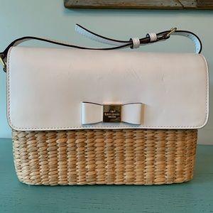 Adorable White Wicker/Straw & Woven Kate Spade Bag